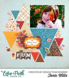 Fall Scrapbook Layouts   12X12 Layouts   Scrapbooking Ideas   Creative Scrapbooker Magazine #scrapbooking #12X12layouts #fall #autumn