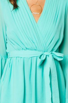 Wrap Dresses (especially in this turquoise color)