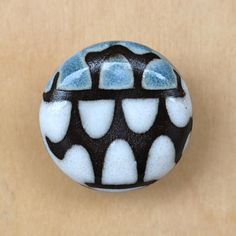 Perfect for your dresser or cabinets. The length of their face is in. Height in. White, blue and brown Handmade The length of machine screw included is 1 inch. Let me know if youd like a different size Cabinet Knobs, Cabinets, Dresser, Ceramics, Brown, Unique Jewelry, Handmade Gifts, Face, Etsy