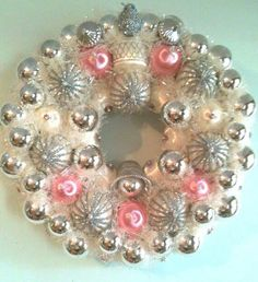 PASTEL COLORED ORNAMENT WREATH