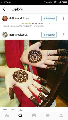 Circle Mehndi Designs, Floral Henna Designs, Modern Mehndi Designs, Mehndi Designs For Girls, Henna Designs Easy, Mehndi Designs For Fingers, Beautiful Mehndi Design, Mehndi Design Images, Mehndi Designs For Hands