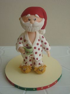 *COLD PORCELAIN ~ Exactly how I imagine Santa on the 26th of Dec after a hard nights work! :)