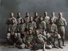 124 yrs ago. This is a photo. Tufts University baseball team studio portrait from 1890