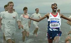 Mo Farah Chariots of Fire Running Humor, Funny Running, Mo Farah, Chariots Of Fire, Running Away, Tank Man, My Love, Mens Tops