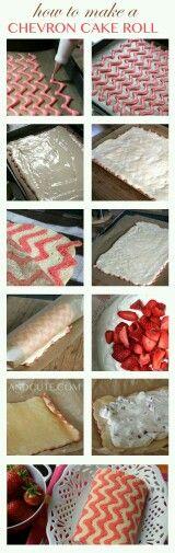 Bánh cuộn vị dâu tây