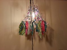 My repurposed lamp shade.