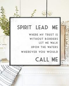 Items similar to Spirit Lead Me Fixer Upper Sign Farmhouse Decor Rustic Mantle Decor Bible Verse Signs Home Decor Gift for Her Wall Art Farmhouse Chic Sign on Etsy