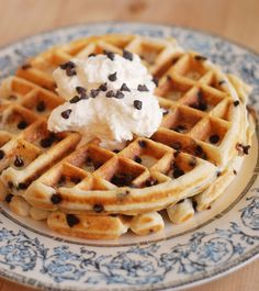 Chocolate Chip Waffles.