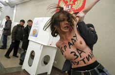 Activiste Femen à Moscou. Crédits photographiques: Ridus.ru