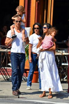 Camila Alves - Matthew McConaughey takes pregnant wife Camila Alves and their children Levi and Vida for a stroll on the West Side Highway i...