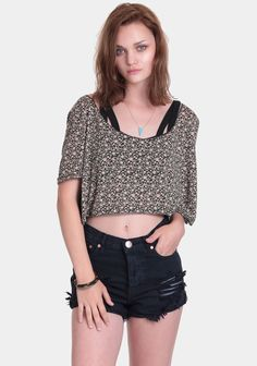 Lunara Crop Top at #threadsence @threadsence