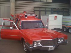 older vintage ambulance
