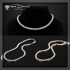 New Women Jewelry Dazzling CZ Choker Necklaces Luxury Tennis Chain Necklace Gift Bold Necklace, Cute Necklace, Necklace Sizes, Choker Necklaces, Diamond Choker, Rhinestone Choker, Crystal Choker, Women Jewelry, Jewelry Accessories