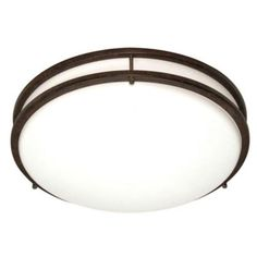 $164 - 3.5in x 17in - Green Matters 3-Light Bronze CFL Flush Mount with 18-Watt Bulbs Included-HD-909 at The Home Depot