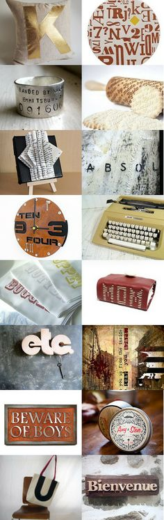 For the Love of Type by allotria on Etsy--Pinned with TreasuryPin.com