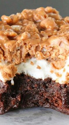 Marshmallow Crunch Brownies