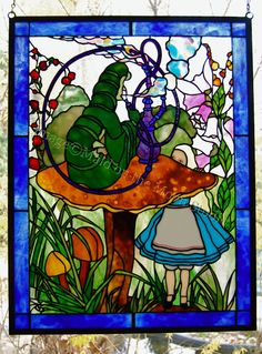 alice in wonderland stained glass - Google Search