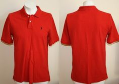 Genuine Ralph Lauren Polo Shirt Size XL(18-20) Red Colour Fashion Designer Mens £0.99