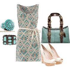 Turquoise, created by hollyberry77 on Polyvore turquoise bracelet at http://www.silvertribe.com/Turquoise-Bracelets