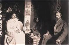 Theodor og Inga, i peisstua på Lauvlia