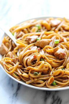 CPK's Kung Pao Spaghetti - A copycat recipe that you can make at home in less than 20 min. And the homemade version tastes 10000x better! Asian pasta easy