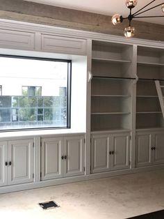 Biblioteca din lemn masiv in finisaj vopsit alb cod ral 9010 Colonial, The Unit, Interior, Furniture, Design, Home Decor, Products, Home, Decoration Home