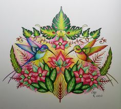 Magical Jungle by Johanna Basford From the Video by Chris Cheng Medium: Prismacolor