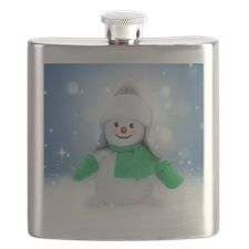 Snowman Wishes Flask