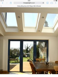 Quality centre pivot skylight windows by VELUX, FAKRO & more. House Extension Design, Roof Extension, Extension Ideas, Extension Google, Garden Room Extensions, House Extensions, Kitchen Extensions, Veranda Pergola, Folding Patio Doors