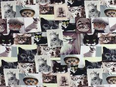 Cottonjersey Cats & Dogs, digital print - Children's Fabrics for Girls - at fabrics-hemmers.co.uk