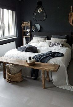 slaapkamer_donker slaapkamer_donker The post slaapkamer_do. Bedroom_Dark Bedroom_Dark The post Bedroom_Dark appeared first on Bedroom ideas. Vintage Bedroom Decor, Home Decor Bedroom, Bedroom Furniture, Furniture Ideas, Grey Furniture, Furniture Design, Small Room Bedroom, Trendy Bedroom, Bedroom Wall