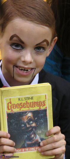 Slappy - Halloween Costume Contest via Costume Works Scary Boy Costumes, Book Day Costumes, Diy Halloween Costumes For Kids, Book Week Costume, Halloween Costume Contest, Boy Halloween Costumes, Costume Ideas, Boys Book Character Costumes, Children's Book Characters Costumes