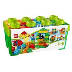 La grande boîte du jardin en fleurs Lego Duplo contient de nombreuses briques Duplo pour construire et reconstruire en s'amusant, en jouant de façon créative. Elle contient une base de wagon à construire avec des bords arrondis et des roues qui tournent vraiment. Cet ensemble complet inclut aussi 2 éléments de fenêtre qui s'ouvrent, un joli chien et des briques numérotées avec les briques décorées correspondantes pour aider votre enfant à apprendre à compter. Il y a même des briques D...