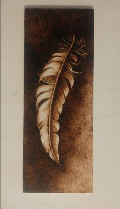 Small pyrography on poplar ply made by Mojca Lovrec Mojcart Wood Burning Crafts, Wood Burning Patterns, Wood Burning Art, Wood Crafts, Diy Wood, Coffee Painting, Diy Painting, Painting On Wood, Feather Crafts
