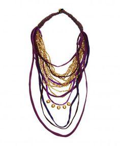 Purple Silk Necklace ShopLatitude.com
