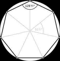 Qué es un heptágono, formulas del área y el perímetro, características del heptágono regular, irregular, cóncavo y convexo según sus lados y ángulos. Regular Polygon, Islamic Patterns, Square Art, Geodesic Dome, Formulas, Background Pictures, Woodworking Tips, Geometric Art, String Art
