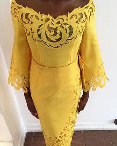 Yellow Nectar Motif. #yellow #komole #deolabydeolasagoe