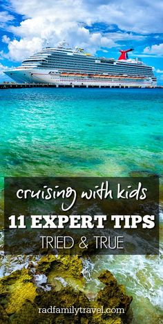 Cruising with kids never looked so good! 11 expert tips to making this one of your best family vacations yet! Best Family Vacations, Family Cruise, Family Travel, Dream Vacations, Cruise Travel, Cruise Vacation, Cruise Tips, Vacation Spots, Vacation Ideas