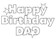 Happy Birthday Daddy Printable Birthday Card Happy
