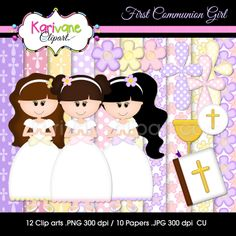 Karivane Clipart: First Communion Girl