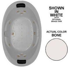 Watertech Whirlpool Baths Designer 84-In L X 46-In W X 23-In H 2-Perso