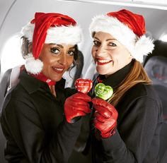 We  #Christmas time! #flyinghomeforchristmas #chocolate #christmas2015 #crew #red #heart #travel by airberlin