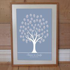 Winter wedding fingerprint tree.