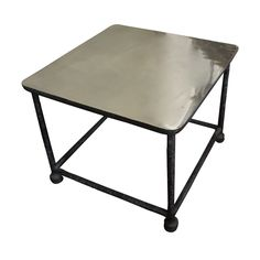 Interieurs Distressed Side Table Angle View