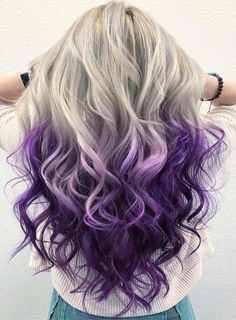 Like before this time we again posted here fantastic ideas of ice blonde to purple hair colors for long and medium length haircuts. Must copy this color for amazing hair color looks. Ice Blonde, Blond Ombre, Blonde Brunette, Hair Color Purple, Blonde Color, Cool Hair Color, Hair Colors, Purple Colors, Purple Ombre