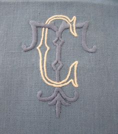 Beautiful Julia B linens and monogramming- come feel and see how amazing this quality is!