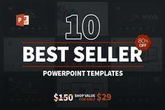 10 Best Seller Powerpoint Bundle by Zacomic Studios on @creativemarket