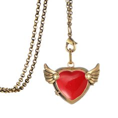 Find More Pendant Necklaces Information about Vintage Heart With Wings Fairy Locket Charm Zinc Alloy Retro Pendant Rolo Chain Steampunk Necklace Women Christmas Gift,High Quality necklace women,China steampunk necklace Suppliers, Cheap rolo chain from Winslet&Jean on Aliexpress.com
