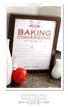 Vintage Baking Chart |  Free Printable  |  TheCakeBlog.com