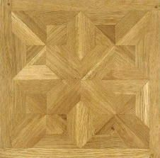 Traditional French Chenonceau parquet floor panel made from oak.
